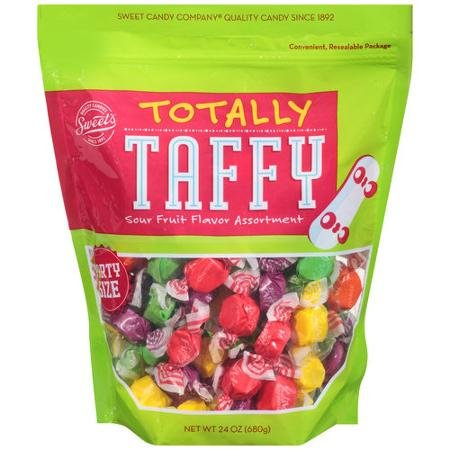 - Sweet's Totally Taffy Sour Fruit Flavor Assortment, Party Size-24 Oz. Bag