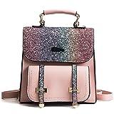 Backpack Women 2018 Spring New Wild Student Backpack Korean Version of Sequin Travel Bag Trend Shoulder Bag Pink