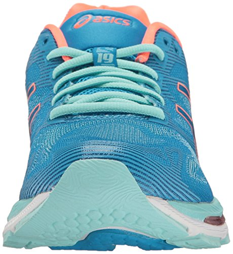 Coral Flash Coral para Aqua Mujer 19 Running Azul Asics de Blue Zapatillas Nimbus Gel Splash Aguamarina Diva q6Of16