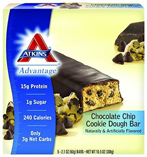 Atk 5pk Choc Cookie Dough Size 10.5z Atkins 5pack Chocolate Cookie Dough (Atkins Low Carb Cookies)