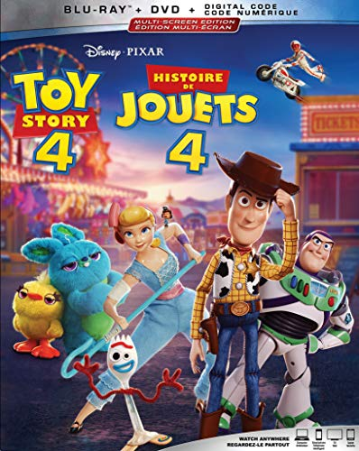 Toy Story 4 [Blu-ray + DVD + Digital] (Bilingual)