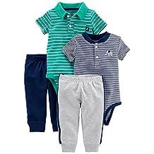 Simple Joys by Carter's Boys' 4-Piece Bodysuit and Pant Set