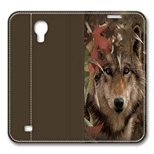 Autumn Encounter Wolf Smart Case Cover with Back Case for Samsung Galaxy S4/I9500