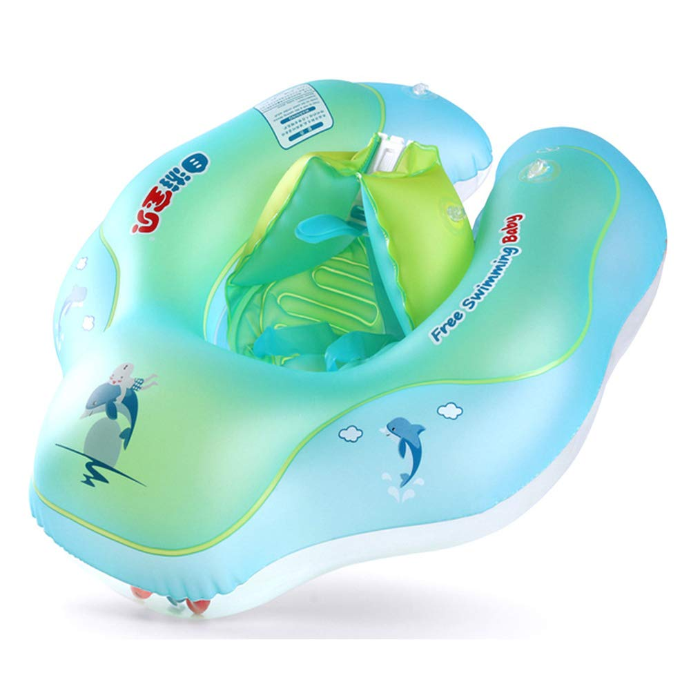 Qnlly Baby Inflatable Swimming Ring Pool Float Accessories Boia Piscina Safety Infant Swimtrainer Kids Swim Circle Water Mattress Toys,L by Qnlly (Image #1)