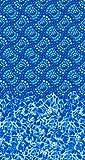 24 foot Round Poseidon Water Fall Tile Swirl Water Print Above Ground Swimming Pool Liner - Water Print - 30 - Gauge