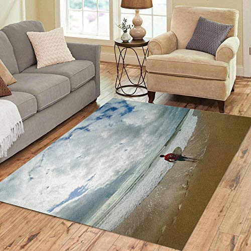 Semtomn Area Rug 5' X 7' Peniche Portugal October 11 Tiago Pires Por in Rip Home Decor Collection Floor Rugs Carpet for Living Room Bedroom Dining Room