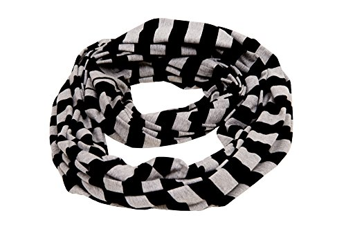 MadisonRose 100% Premium Cotton - Nursing Scarf & Nursing Cover for Breastfeeding - Soft - Covers Front And Back (Striped - Rose Black Madison