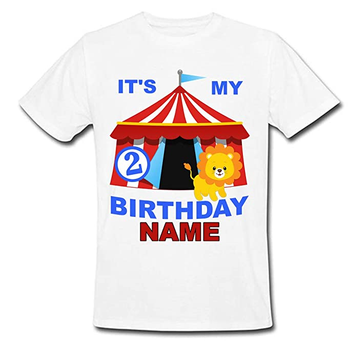 f12a4b8a9 Sprinklecart It's My Second Birthday Printed Ideal Tee Gift | Personalized  Name Printed Birthday Kids Tshirt