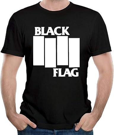 YUSOO - Camiseta de algodón para Hombre, diseño de la Bandera Negra, Color Negro - Negro - Large: Amazon.es: Ropa y accesorios