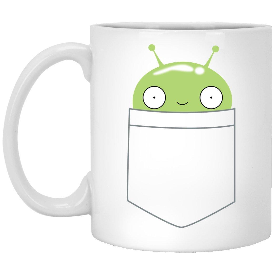 Mooncake Pocket Mug, White 11Oz, Final Space Coffee Mugs Saying MomBossThreads MG18MY20132