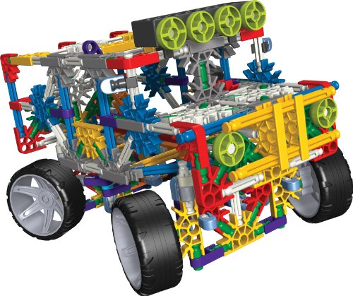 KNEX 4 Wheel Drive Truck Building Set with Working Lights and Alternate Dune Buggy Design - 313 Pieces