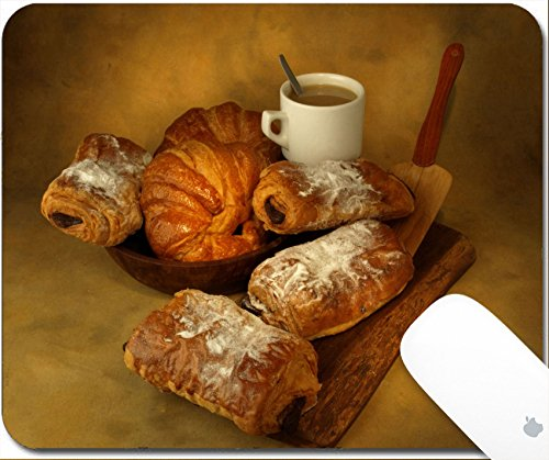 Luxlady Gaming Mousepad Lunch or breakfast with fresh pastries freshly prepared by bakers 9.25in X 7.25in IMAGE: 6061286