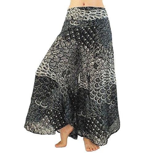 rita-risa-womens-printed-style-peacock-tail-loose-palazzo-pants-medium-black