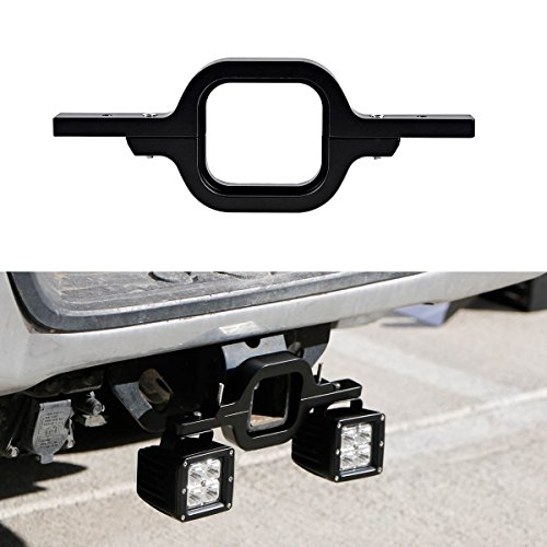 Deselen - LP-MB24P3 - Tow Hitch Bracket Mounting Kit for 2 inches Class III & IV Trailer Hitch, fit Dual LED Light Bar as Backup Reverse Lights Rear Search Lighting (Bracket Receiver Hitch)