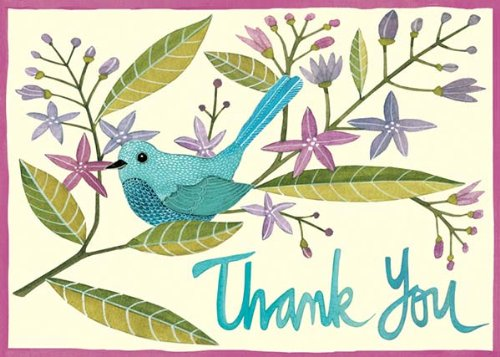Galison Avian Friends Thank You Note Cards, Multi-color (Set of  12)