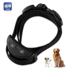 Hilifeone Dog Anti Bark Collar, Rechargeable Anti-Bark Collar with Harmless Adjustable Sensitivity Warning Beep and Static Shock Control for Small and Medium Dogs 5-80 lb