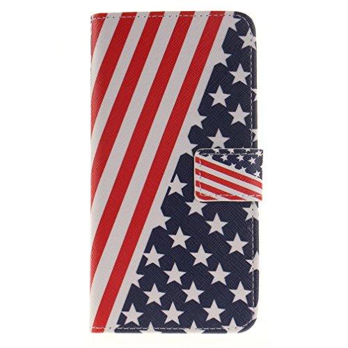 Housse en Cuir Pour iphone 7 plus Coque Étui Pour iphone 7 plus 5.5 pouces Case Cover Etui de Protection avec Fonction Stand / Carte de Credit Holder
