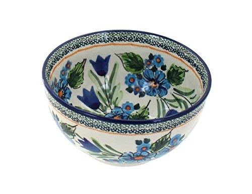 Blue Rose Polish Pottery Ballina Dessert Bowl