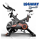 LEEWAY Spin Bike RU-709 Exercise Fitness Spin Bike(Red); Exercise Cycle For Home Gym; 20kg Flywheel; Indoor Cycle; Trainer Fitness; Spin Bike (Imported)