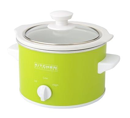 amazon com kitchen selectives slow cooker 1 5 quart green rh amazon com Quart Slow Cooker Kitchen Selectives Slow Cooker Review