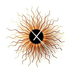 Medusa Copper XL - Contemporary Wooden Wall Clock, a large piece of wall art