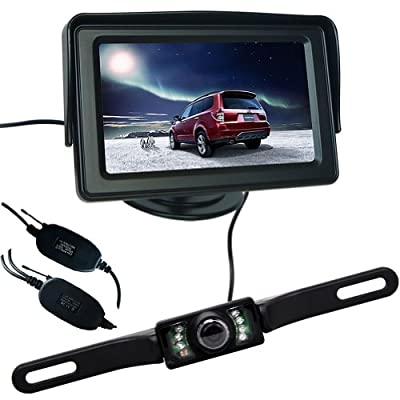 Buyee 4.3 Inch LCD Monitor +7LED Wireless Camera Car Rear View Kit from The Rear View Camera Center