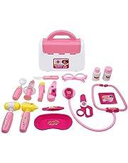 Samoleus Gioco Dottore Bambini Medico Kit, 15 Pezzi Dottore Kit Medico Kit di Giochi di Ruolo per Bambini 3 Anni (Rosa)