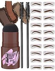 iMethod Eyebrow Stamp and Eyebrow Stencil Kit - 1 Step Eyebrow Stamp and Shaping Kit for Perfect Brow, 24 Eyebrow Stamp Stencils Kit, Long-lasting, Waterproof