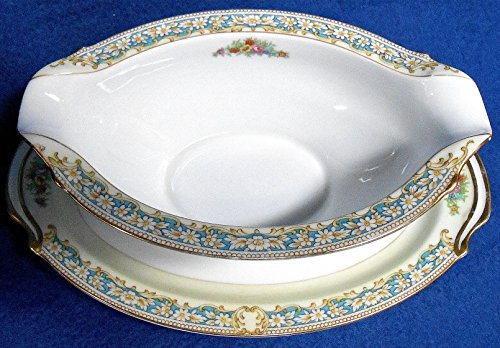 Drip Gravy (Noritake #4005 Lauritz Gravy or Sauce Boat with Attached Drip Plate)