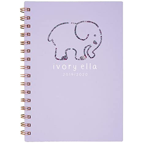 4bda95596f0c Amazon.com : Ivory Ella 2019-2020 Academic Year Weekly & Monthly Planner,  Small, 5-1/2