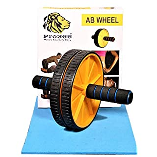 51PaXiUEq2L. SS320 PRO365® Wide Ab Roller Wheel for Abs Workouts/Home Gym Abdominal Exercise/Core Workouts for Men and Women (6 MM Safe…