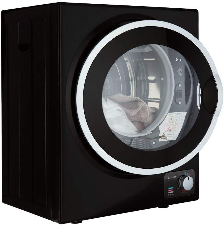 Cookology Mini Tabletop Black Compact Vented Tumble Dryer 2 5kg Portable Amazon Co Uk Large Appliances
