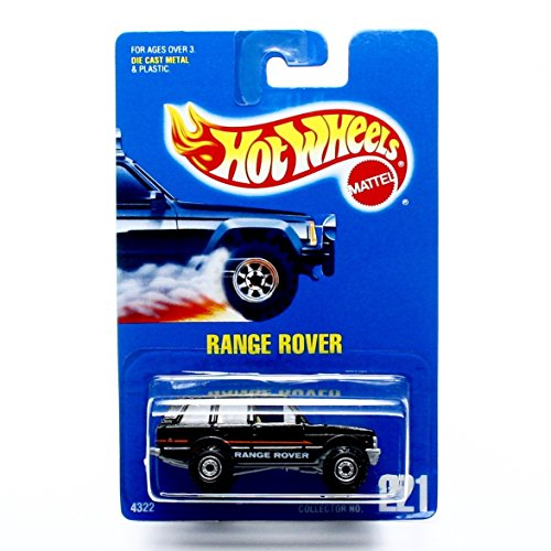 RANGE ROVER (Black) Collector #221 Hot Wheels 1991 HW Basic 1:64 Scale Die-Cast (Red Range Rover)