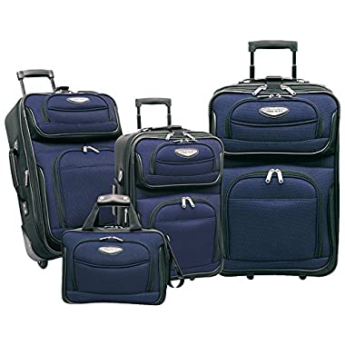 Traveler's Choice Amsterdam 4 Piece Travel Collection in Navy