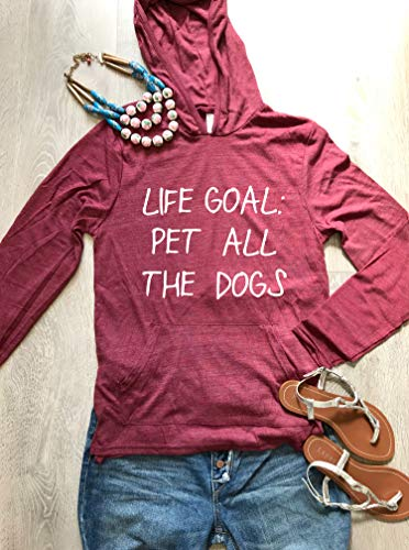 Life Goal Pet All The Dogs. Unisex Fit. Dog Lovers Shirt. Best Quality Hoodie in The Market. Hoodie. Premium Quality Alternative Apparel. Dog Lovers Hoodie. Free Shipping.