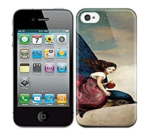 Best Power(Tm) HD Colorful Painted Watercolor Fairytale Night Hard Phone Case For Iphone 4/4S