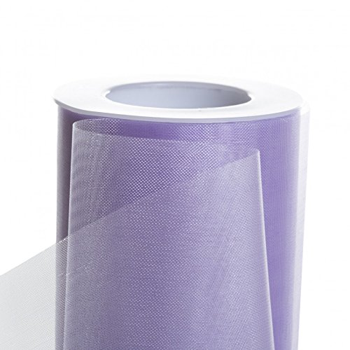 Koyal Wholesale 25-Yard Sheer Organza Fabric Roll, 6-Inch, Lavender