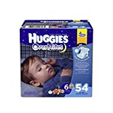 Huggies Overnite Diapers, Step 6, Giga Pack, 54-Count