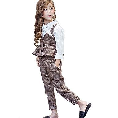 41695174110f6 韓国子供服 セットアップ 女の子 チェック柄 女の子 スーツ キッズ  ベスト・ズボン  ツ
