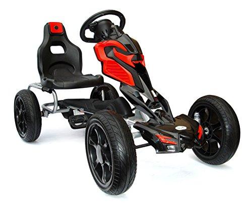 "Joy 4 Kids #scout Kinder Pedal Go-Kart, Rutscher Auto, Pedal Go Cart, Shaum Reifen""eva wheels"" 5–12 Jahre red JOY 4KiDS"