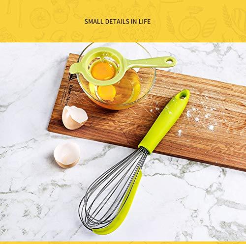 ... de silicona diseño humanizado batidor de huevo de Acero inoxidable licuadora casera para hornear herramienta de raspado de cocina,Orange: Home & Kitchen