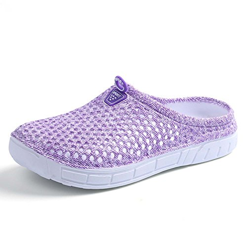 Lightweight Beach Footwear Anti Drying Women's Purple Breathable Mesh Shoes Slippers Quick Sandals Garden Slip PHILDA Clog 58nzgqwAn