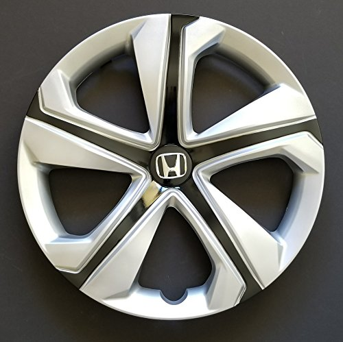 MARROW One New Replacement Fits 2016 2017 2018 Honda Civic Style 16' Wheel Cover Hubcap,16 Inch, 5 Spoke, Silver/Black, Plastic, Spring Steel ()