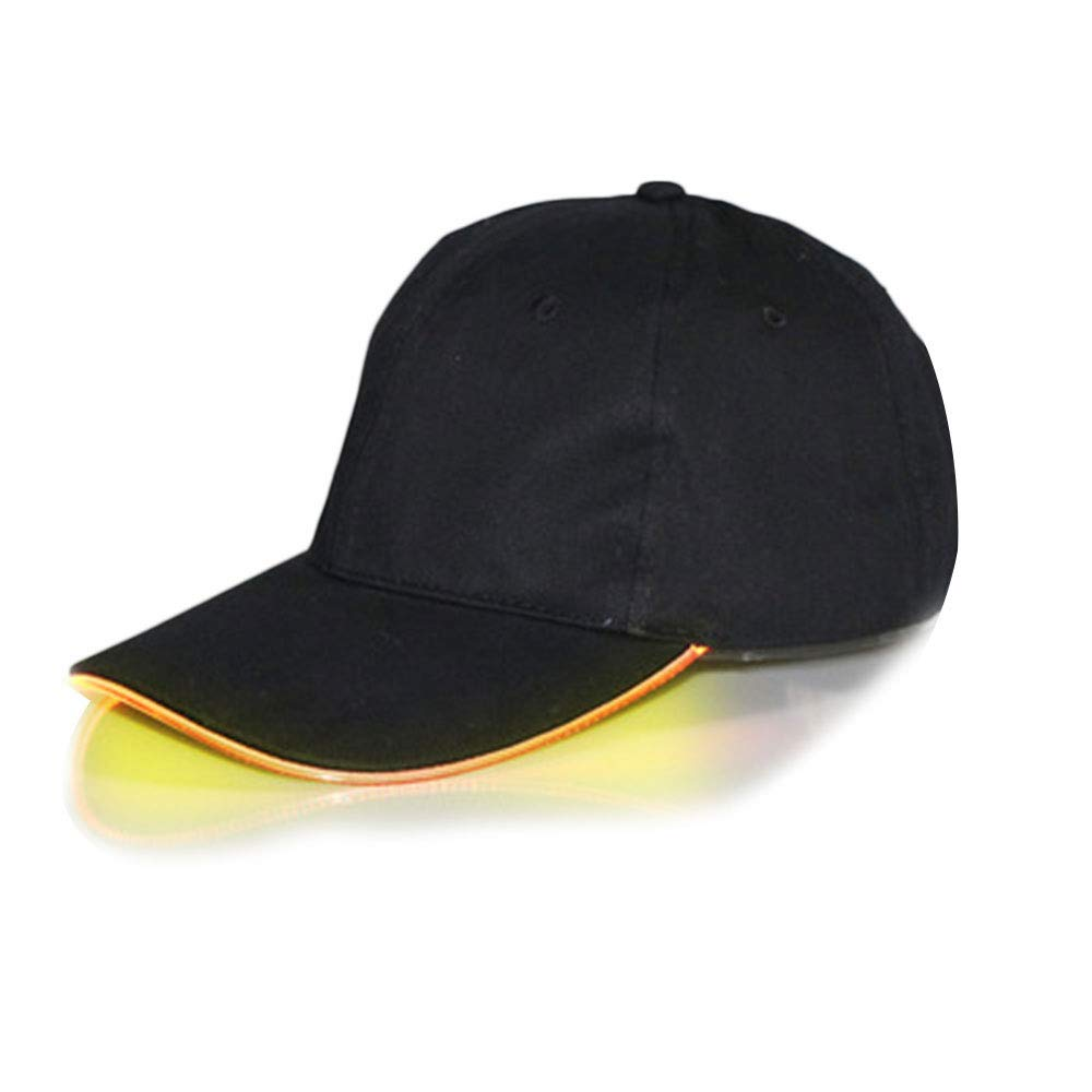axusndas LED-Baseballm/ütze Leuchten Hut f/ür Camping Sport Travel Party Club Cap mit LED-Lichtkrempe