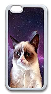 iPhone 6 Cases, Grumpy Space Cat Durable Case Cover for Apple iPhone 6 4.7INCH Screen TPU White