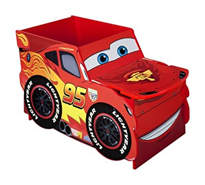 Disney Cars Lightening McQueen Car Shaped Toy Box, Large