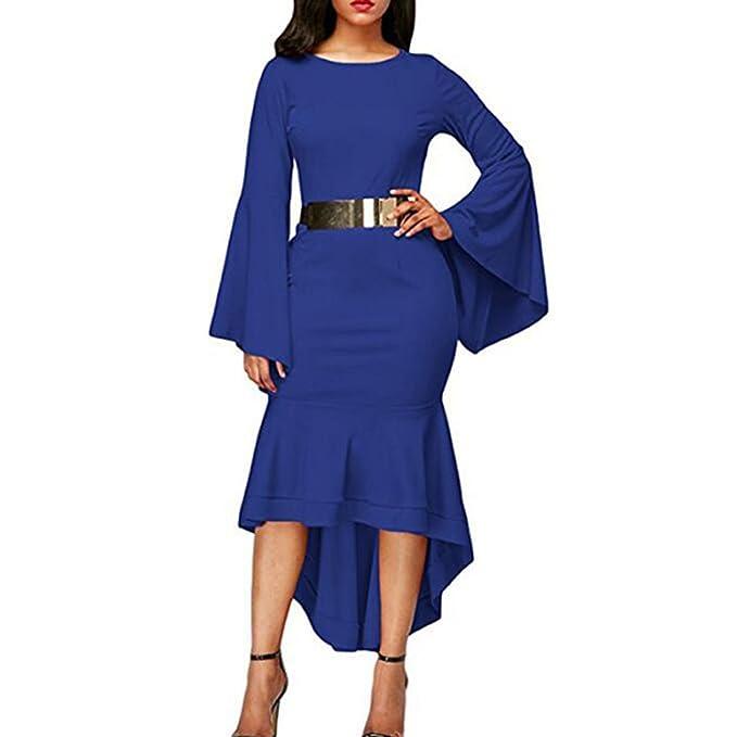 Vestidos ajustados de las mujeres de la gasa de la tarde larga de la gasa del