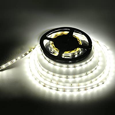 LEDMO LED Strip Light, SMD2835LED Strip Non-waterproof LED Strip DC12V 300 LEDs 16.4 Ft 15LM/LED High CRI80 LED Light Strip 3 times brightness by Targetlighting