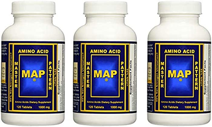 INRC Master Amino Acid Pattern Map Muscle Building Tablets, 360 Count