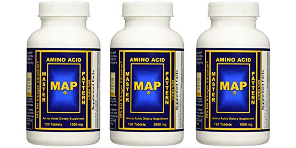 INRC Master Amino Acid Pattern Map Muscle Building Tablets, 360 Count by INRC